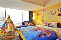 超級飛俠海景雙床房