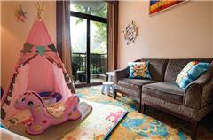 Elegant Garden-view Family Room