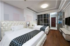 现代风情双床房