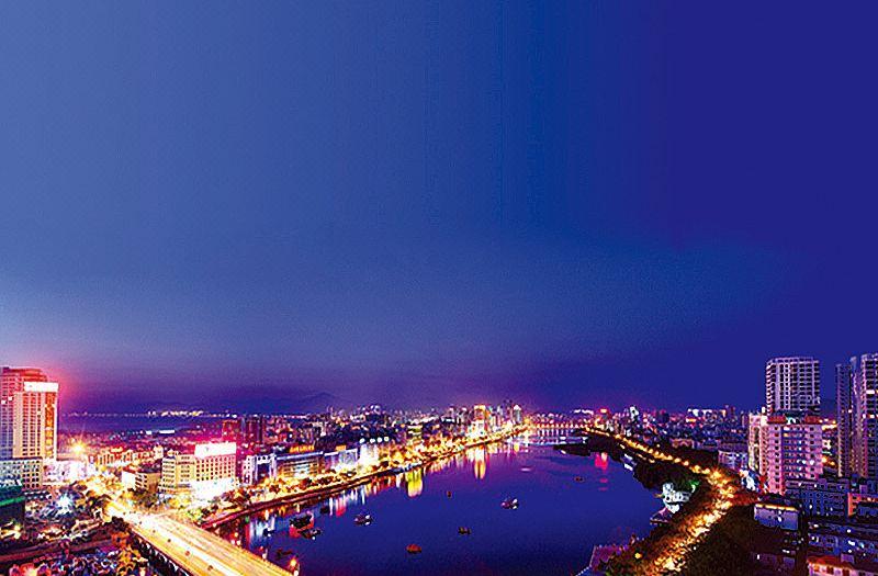 三亚河夜景