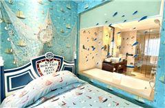 蓝色地中海主题房