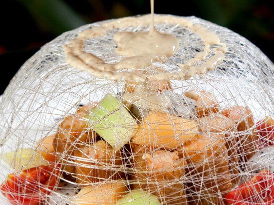 金網奇妙沙律蝦