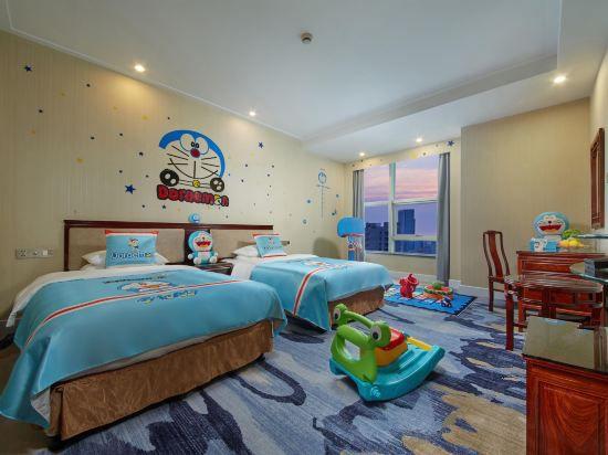 蓝胖胖主题双床房