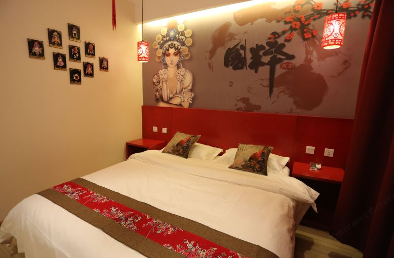 精选中国文化大床房