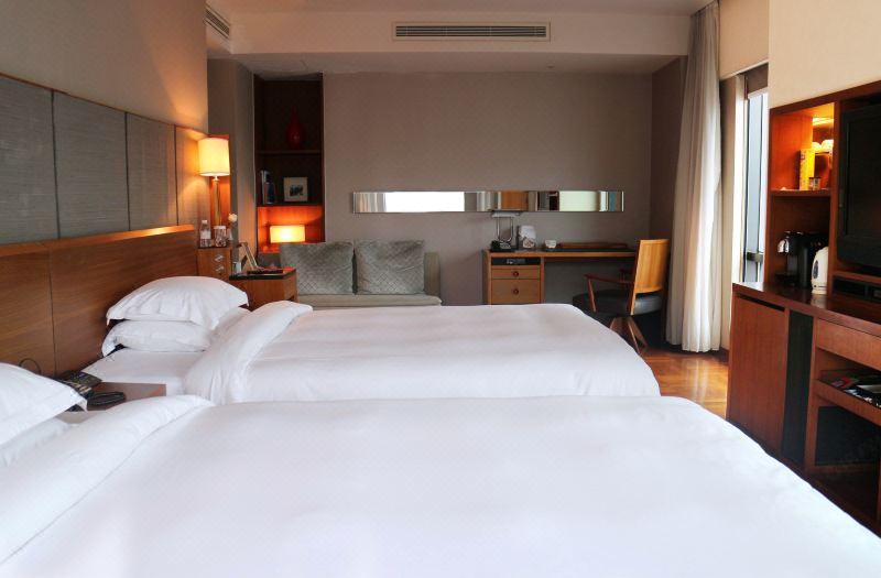 悦上海市景双床房