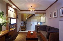 豪华复式双床套房公寓(有阳台)