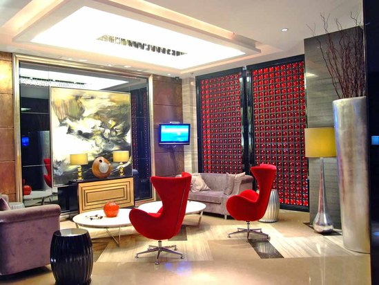 The lobby lounge area