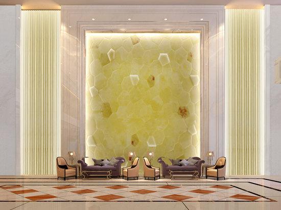 大厅水立方玉石画