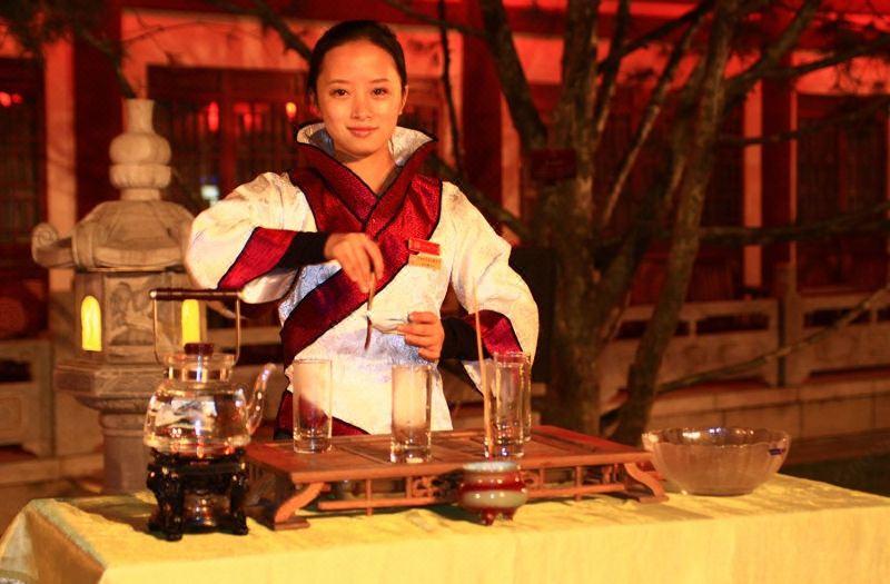 茶藝表演-綠茶