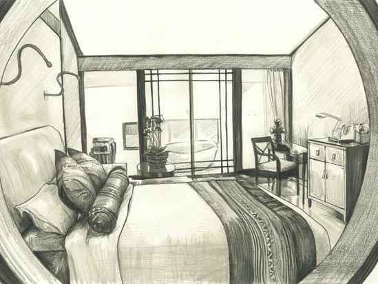 特色山景大床房