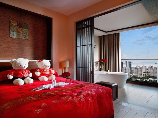中式蜜月房-臥室