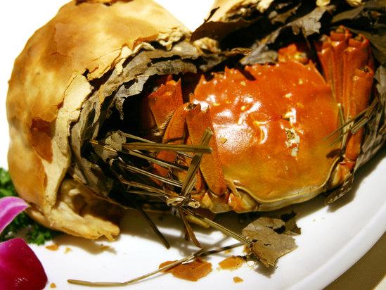 金雕煨太湖蟹
