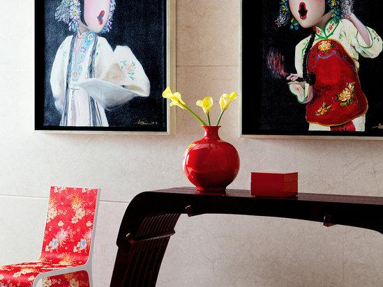 明阁中餐厅走廊艺术品
